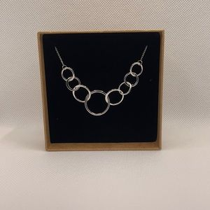 20-23 inch 925 S, 8 ring necklace, NEW in gift box